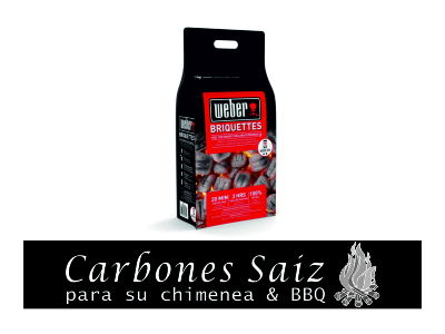 Briquetas de Carbón Vegetal Weber. (8 kg)