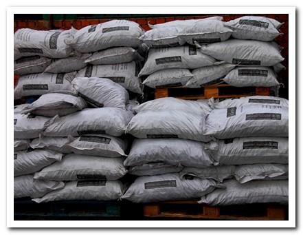 carbón en bolsas