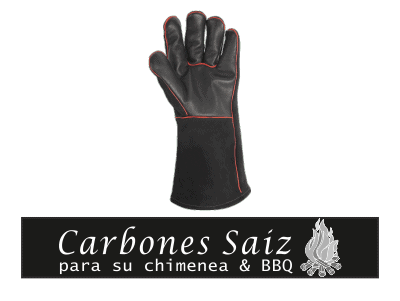GUANTE CUERO BARBACOA WEBER